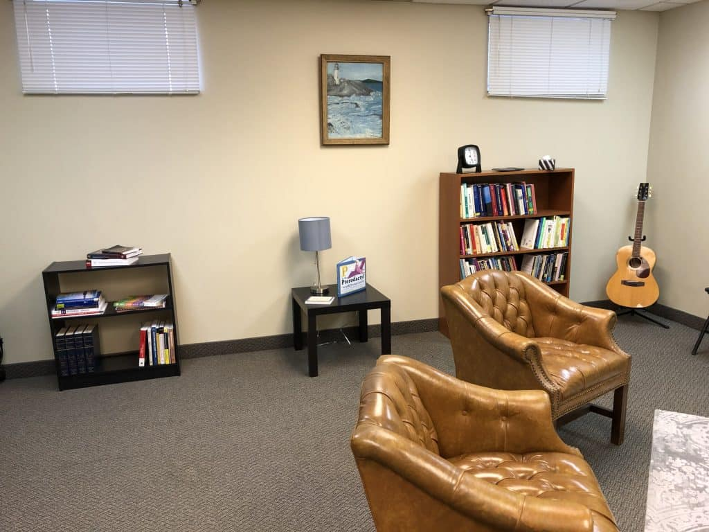 Inside therapy office for 195 King St Suite 103, Cameron Counselling