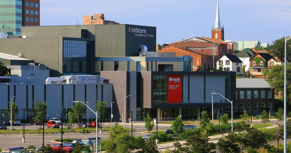 A View of Brock University building downtown, St. Catharines, Ontario, Canada